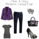 Plum and Grey Fashion