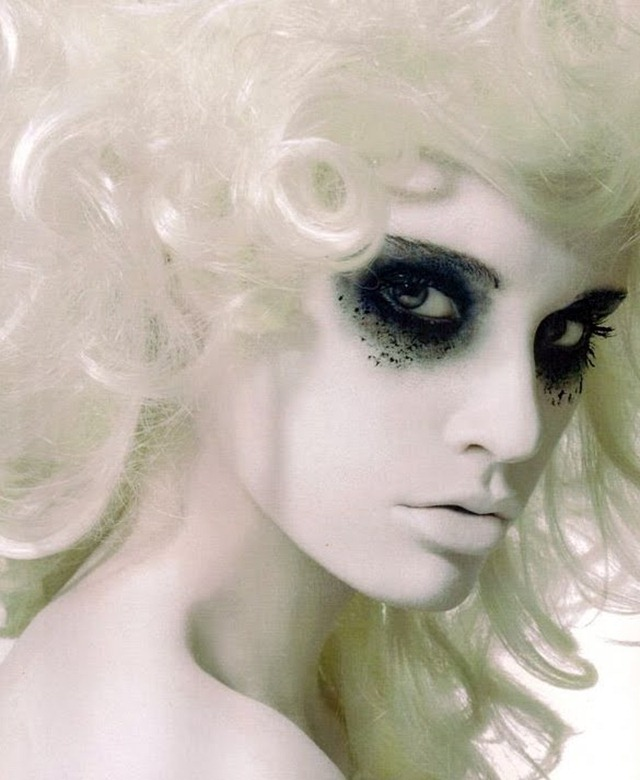 Crazy Halloween Makeup Ghost Woman