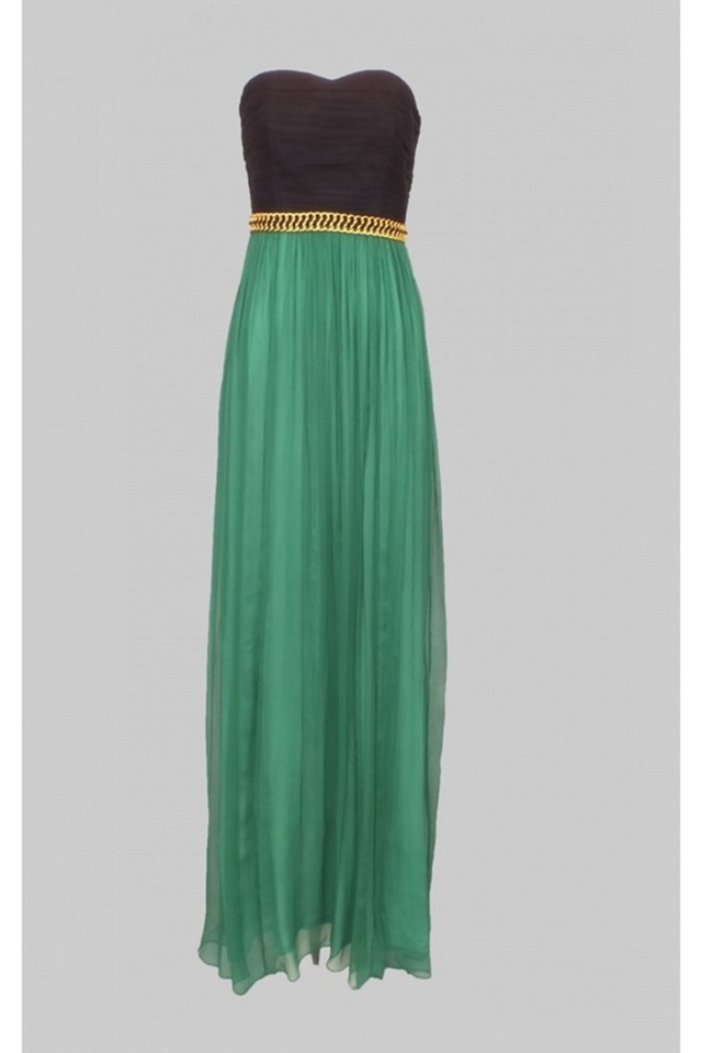 Emerald 2013 Color of the Year - Emerald & Black Dress