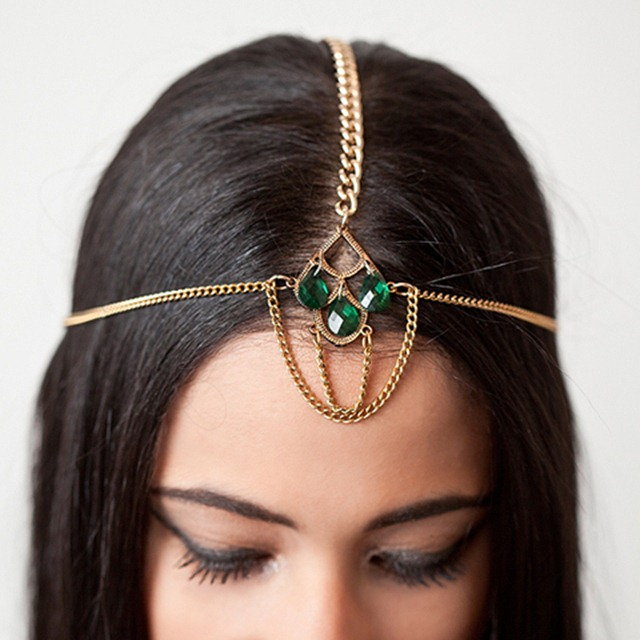 Emerald 2013 Color of the Year - Emerald Headpiece