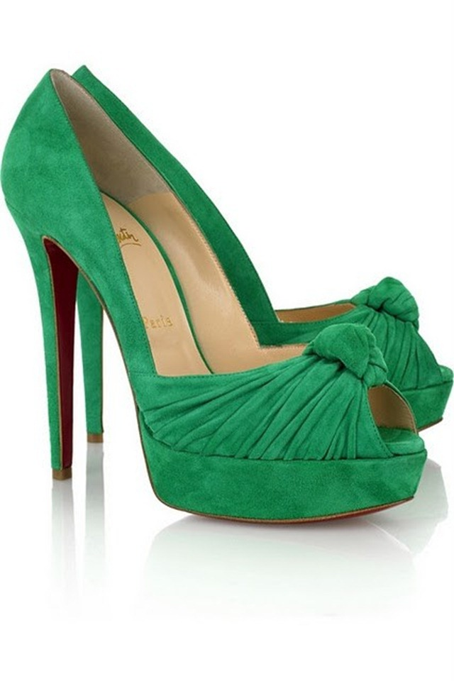 Emerald 2013 Color of the Year - Emerald Loubotins