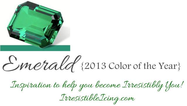 Emerald 2013 Color of the Year via IrresistibleIcing.com