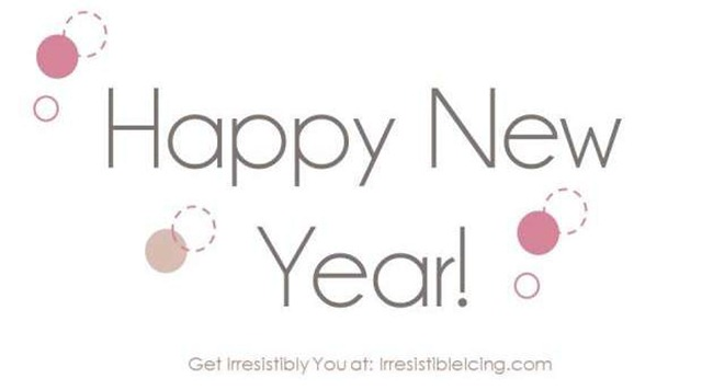 Happy New Year via Irresistible Icing.com