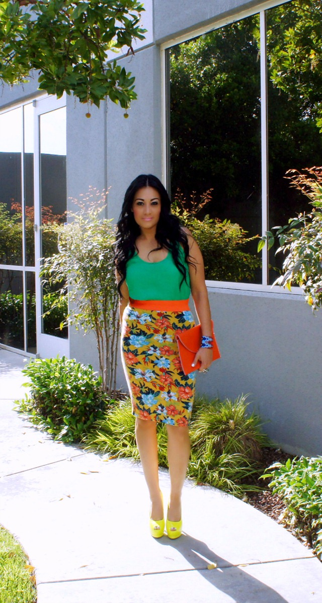 tropical look of the day