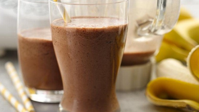 Chocolate Banana Yoplait Smoothie