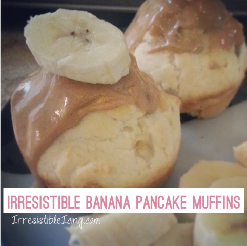 Irresistible Banana Pancake Muffins at IrresistibleIcing.com