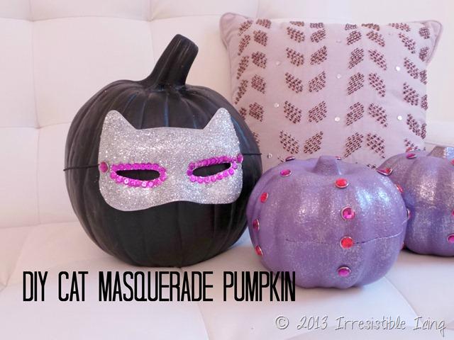 DIY Cat Masquerade Pumpkin Tutorial created by IrresistiblePets.com