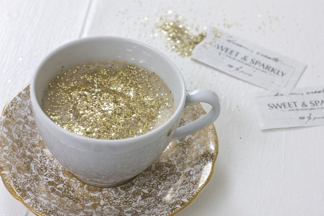 diy glitter coffee