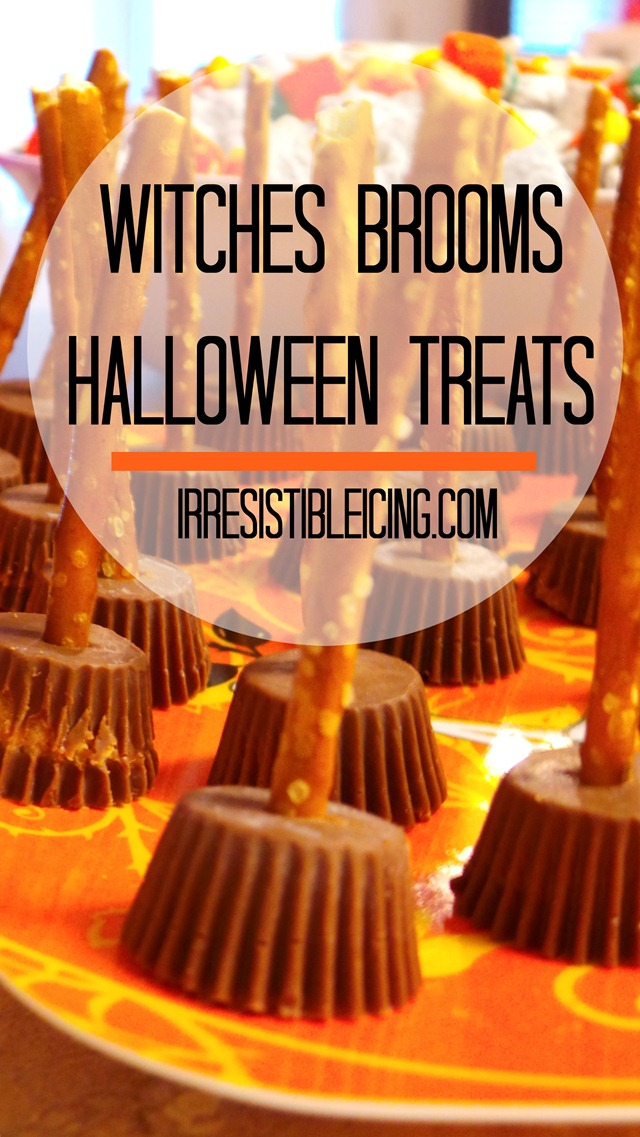 Witches Brooms Halloween Treats by IrresistibleIcing.com