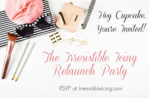 Irresistible Icing Relaunch Party Invitation