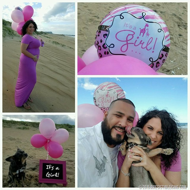 Aimee Gender Reveal with Chuy Chihuahua
