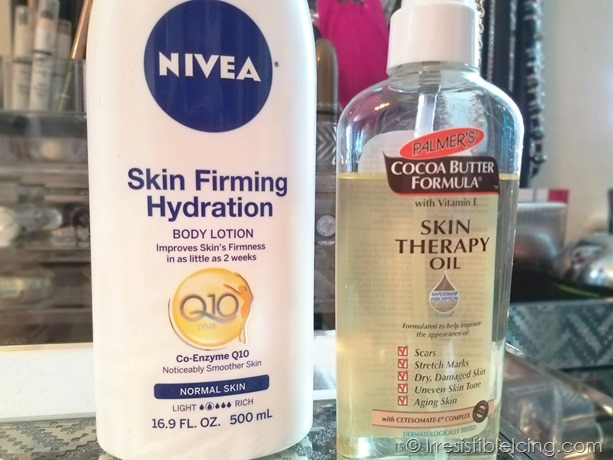 Nivea Lotion and Palmers  Oil