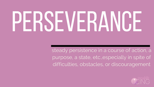 My One Word Resolution is Perseverance