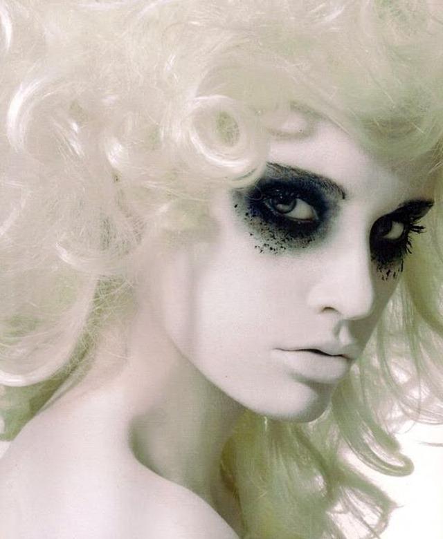 Crazy Halloween Makeup Ghost Woman