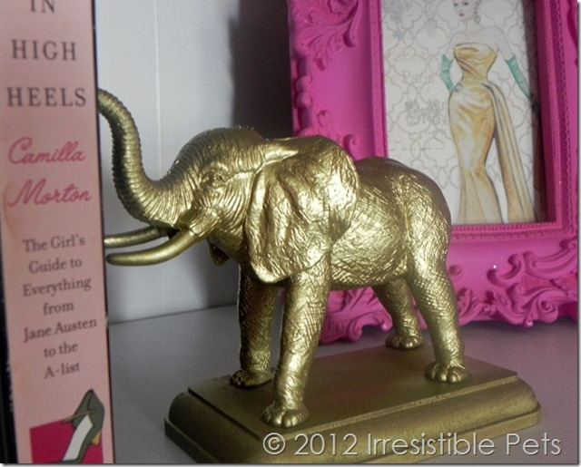Gold Elephant Bookends