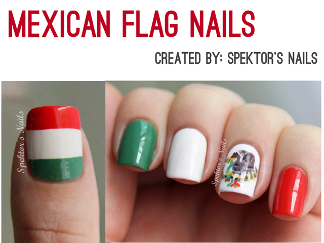 Irresistible Cinco de Mayo - Mexican Flag Nails