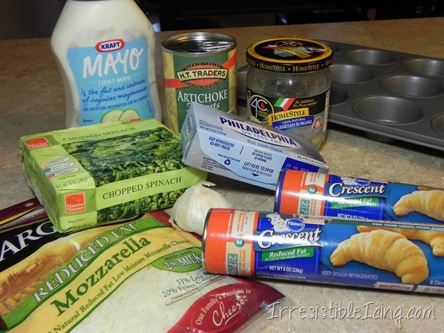 Irresistible Spinach Artichoke Muffins - Ingredients