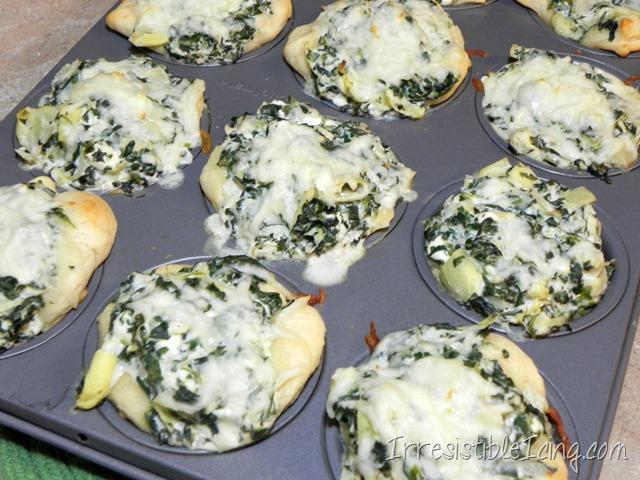 Irresistible Spinach Artichoke Muffins