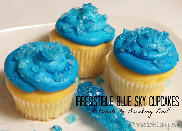 Breaking Bad Blue Sky Cupcakes from IrresistibleIcing.com