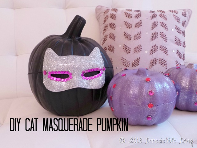 DIY Cat Masquerade Pumpkin Tutorial created by IrresistiblePets.com