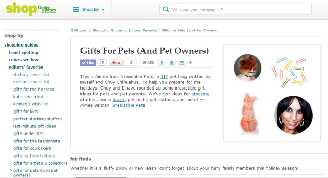 Better Homes and Gardens Gift for Pets