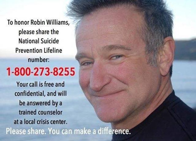 Robin Williams Suicide Hotline