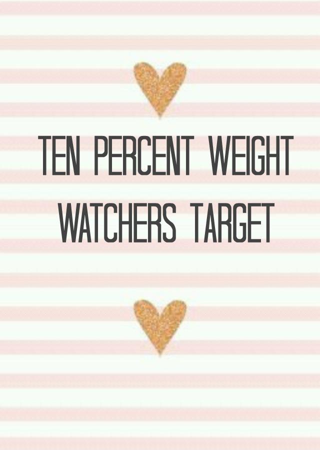 Weekly Weigh In {Ten Percent Target}