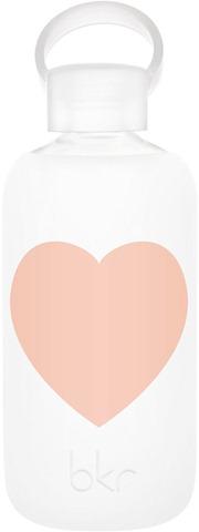 Heart Glass Water Bottle