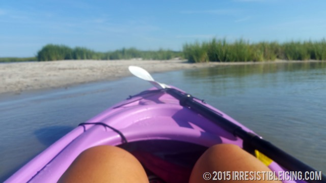 Kayaking To The Sandbar