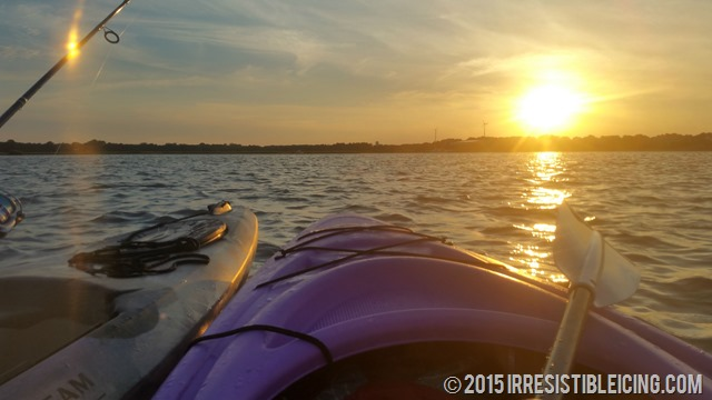 Perfect Kayaking Sunset