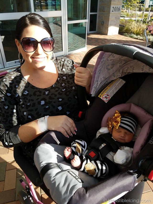 Mom Blogger Leaving Hospital